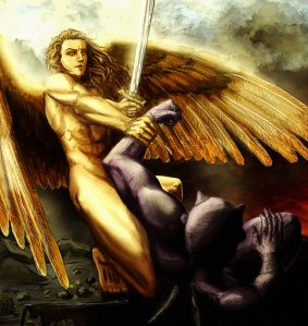 Max Igan ~ Giving Life to Lucifer  Archangel-michael-vs-lucifer
