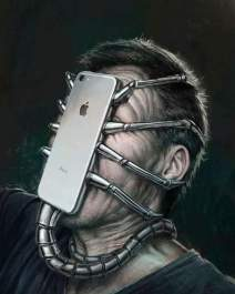 Face with device