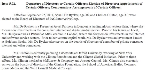 diller-chelsea-clinton-appointment