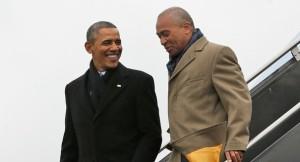 Obama Duval coming off plane
