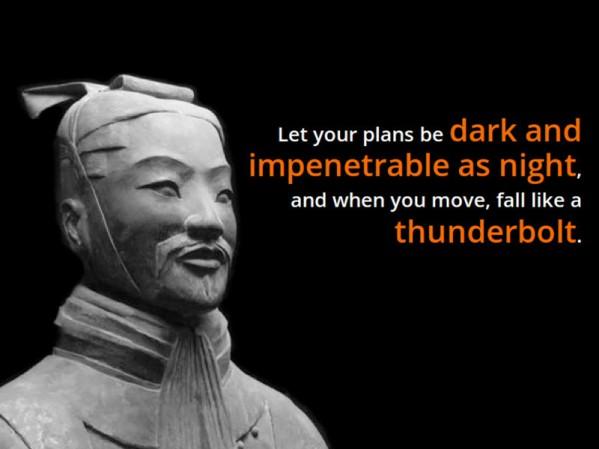 Sun Tzu thunderbolt quote