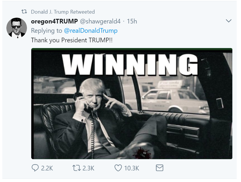 Winning tweet