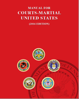 Court martial manual