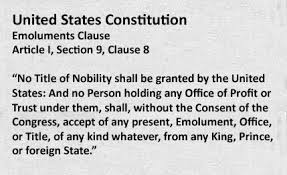 Emoluments Clause