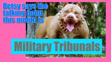 White House Starts Military Tribunal Awareness Month with a Bang
