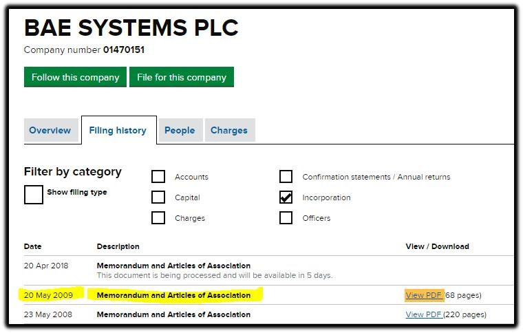 BAE Systems PLC marked