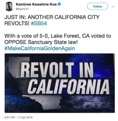 California revolts