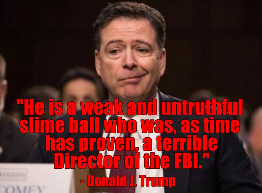 James Comey slime ball