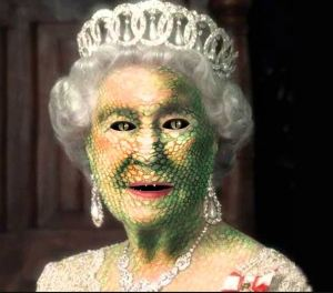 Queen Elizabeth as a lizard