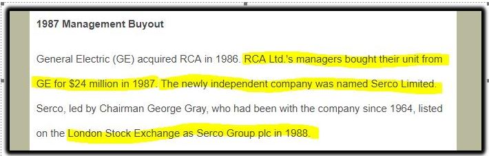 Serco GE history