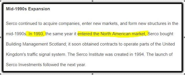 Serco in US market