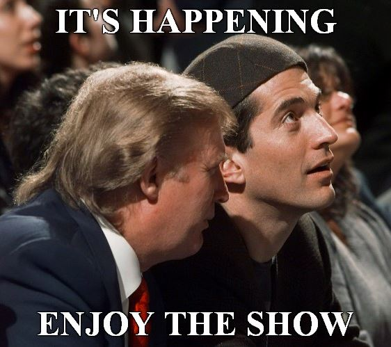 Trump enjoy the show