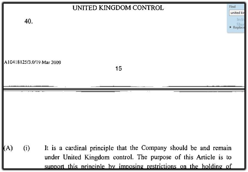 UK Control