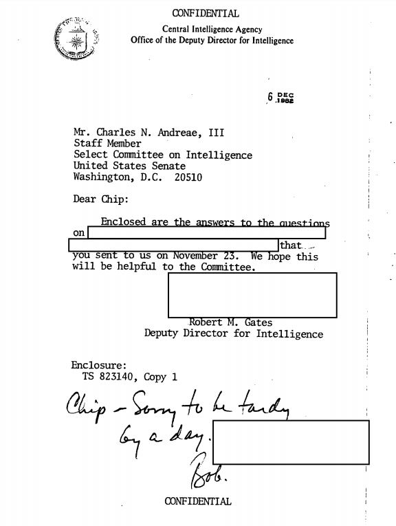 CIA letter