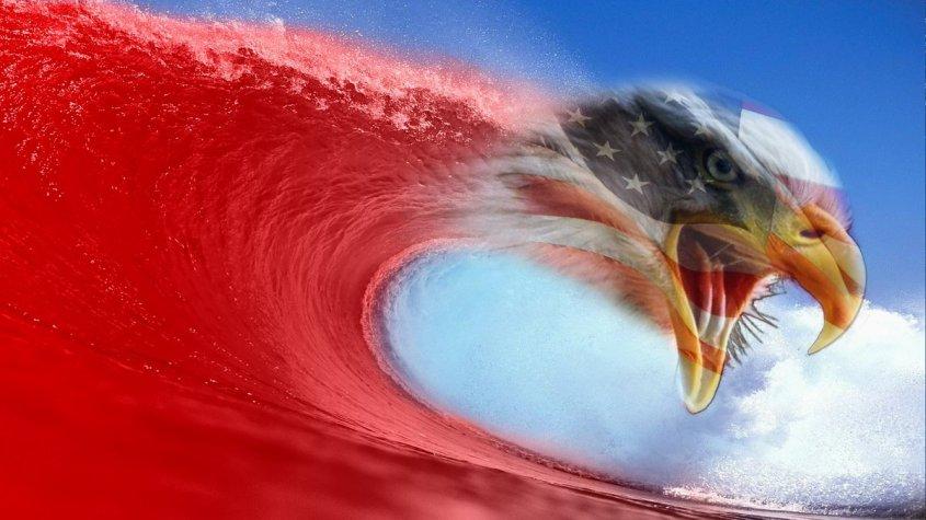 Eagle red wave