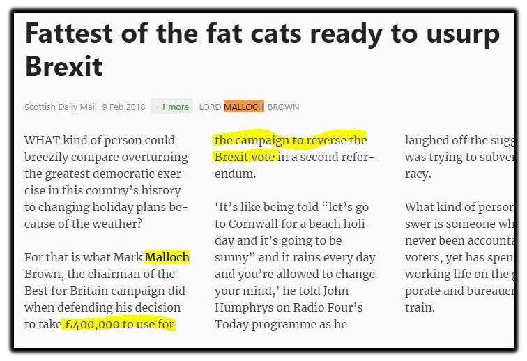 Brexit fat cats