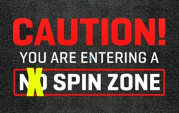 Caution Spin Zone