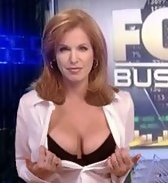 news anchor at fox exposing cleavage