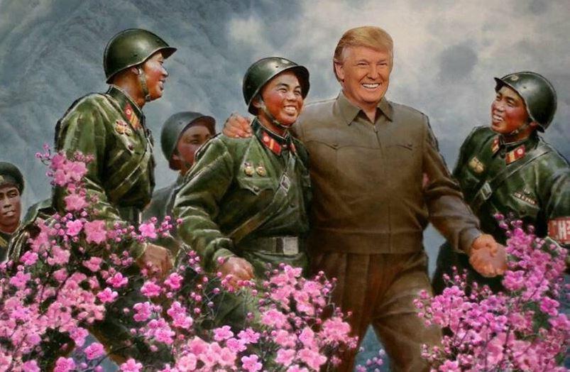 Trump in Korea field