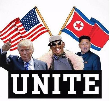 Trump Rodman Kim