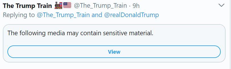 Trump train tweet