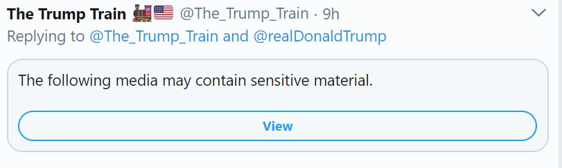 Trump train tweet