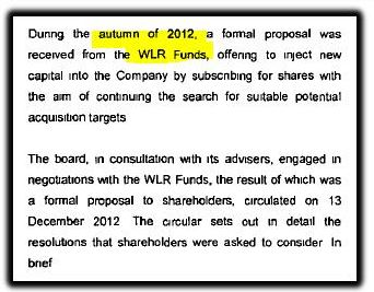 WLR funds