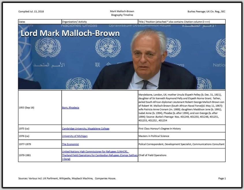 Mark Malloch Brown Resume