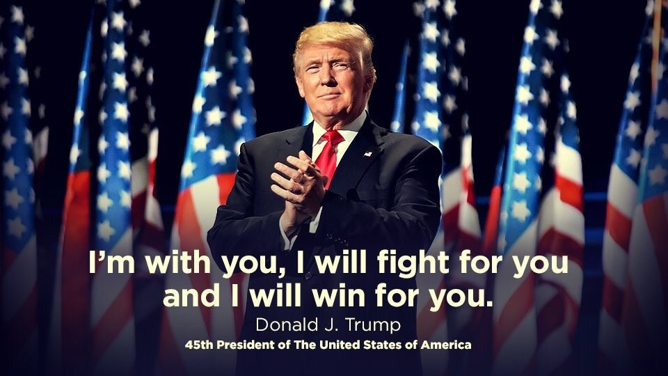 Trump I am with you