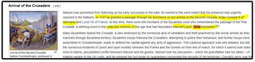 arrival of crusaders