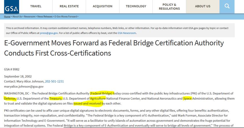 e-government bridges