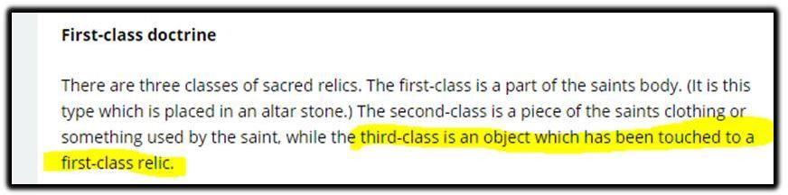 first class doctrine