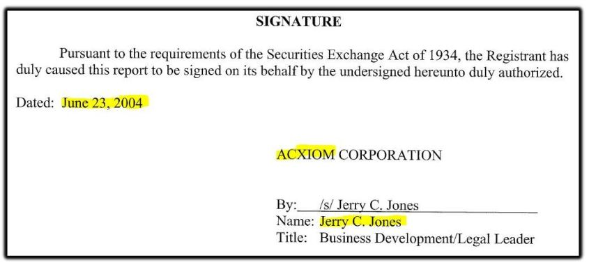 Acxiom Jerry C Jones 2