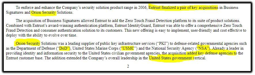 Entrust customers 2006
