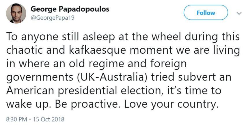 George Uk-Aus tweet