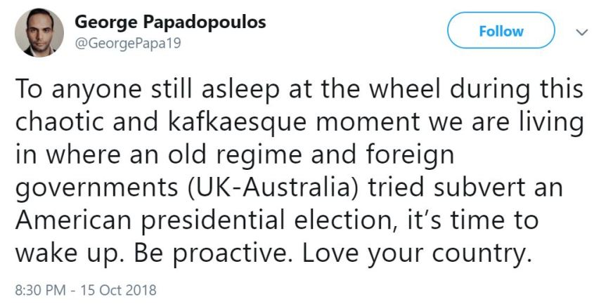 George Uk-Aus tweet