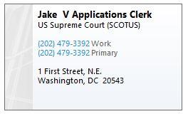applications clerk