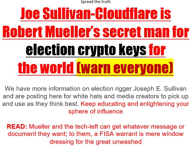 Joe Sullivan cloudflare