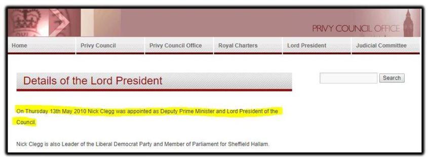 Lord president