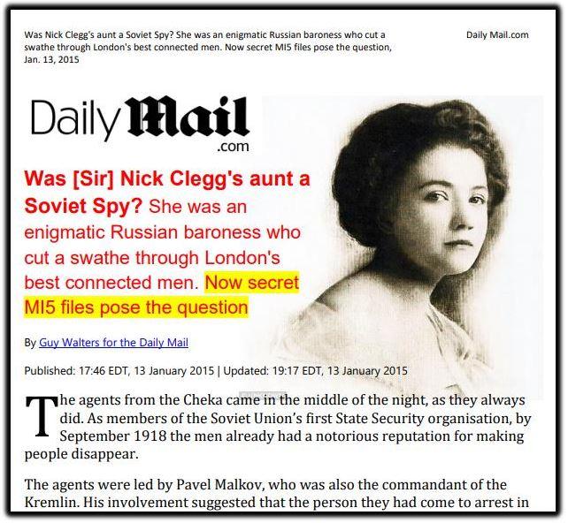 Nick Clegg aunt