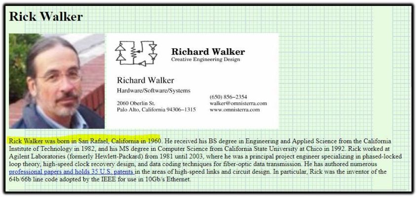 Rick Walker biz card