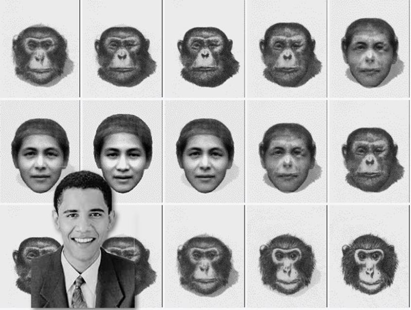 walker Split frames with obama