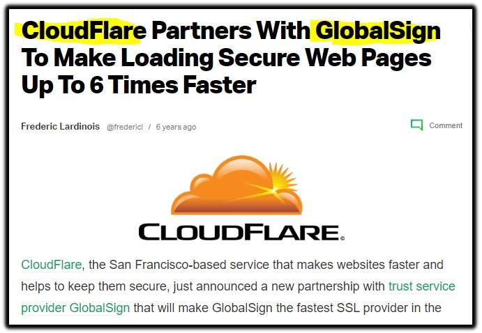 cloudfare globalsign