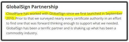 Globalsign partnership