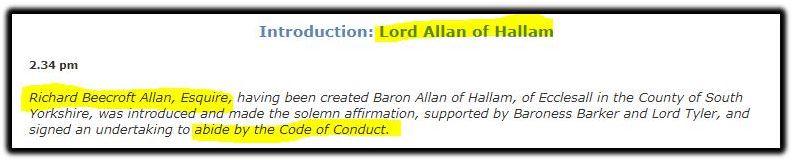 Lord Allan of Hallam