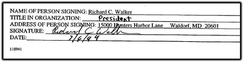 Walker president