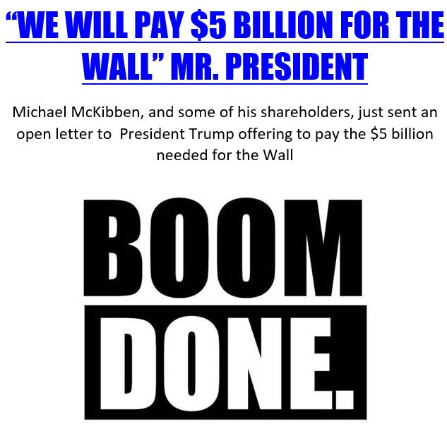 Boom done wall funding