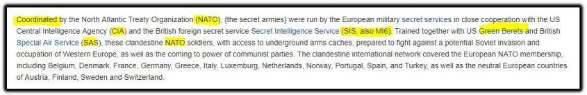 NATO CIA