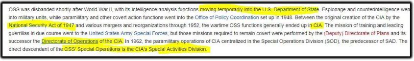 OSS disbanded