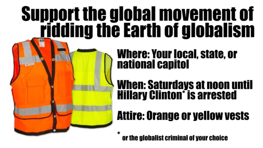 Orange and yellow vest movement